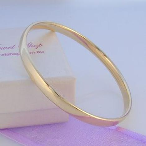 9CT YELLOW GOLD BABY CHILD GOLF BANGLE All Sizes