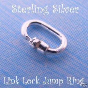 STERLING SILVER LINK LOCK JUMP RING SAFE CHARM ATTACHING JC-LL5-SS