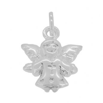 STERLING SILVER 13mm x 18mm GUARDIAN ANGEL CHARM