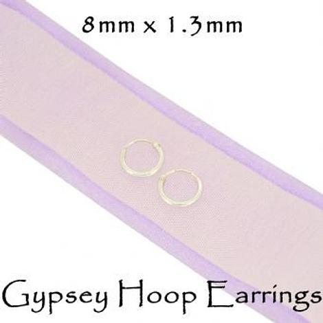 STERLING SILVER 6mm - 8mm TINY BABY GYPSY HOOP EARRINGS