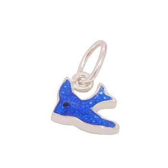 STERLING SILVER 10MM BLUEBIRD OF HAPPINESS CHARM -CH-JC-275D