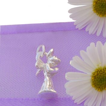 STERLING SILVER 6mm x 12mm ANGEL PRAYING TRADITIONAL CHARM