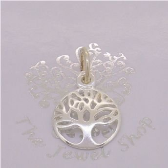 STERLING SILVER 12mm TREE OF LIFE CHARM PENDANT