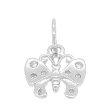STERLING SILVER 11mm BUTTERFLY CHARM