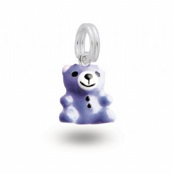 MY LITTLE ANGEL BABYLINKS TEDDY BEAR BEAD CHARM BLUE -BLB-BEAR