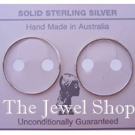 STERLING SILVER LARGE SIZE 22mm HINGED SLEEPER EARRINGS