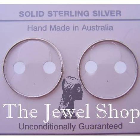 STERLING SILVER LARGE SIZE 22mm HINGED SLEEPER EARRINGS