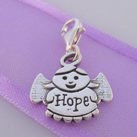 STERLING SILVER GUARDIAN ANGEL OF HOPE CLIP ON CHARM - TI-09714