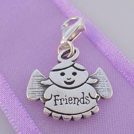 STERLING SILVER GUARDIAN ANGEL OF FRIENDS CLIP ON CHARM - TI-09715