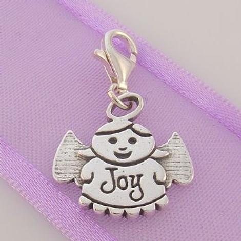 STERLING SILVER GUARDIAN ANGEL OF JOY CLIP ON CHARM - TI-09716