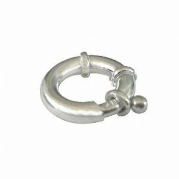 STERLING SILVER 16mm BOLT RING CLASP