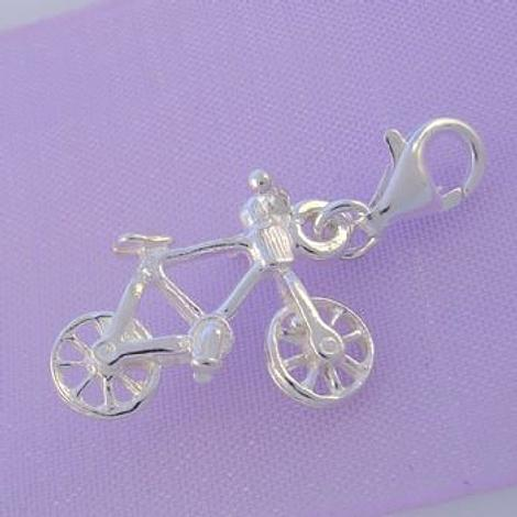 STERLING SILVER BICYCLE BIKE CLIP ON CHARM -HR2210