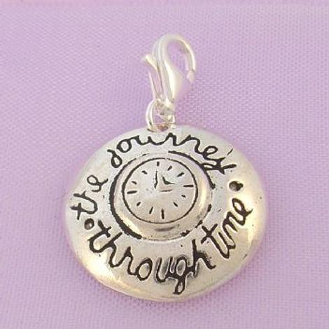 STERLING SILVER JOURNEY THROUGH TIME CLIP ON CHARM - TI-01750