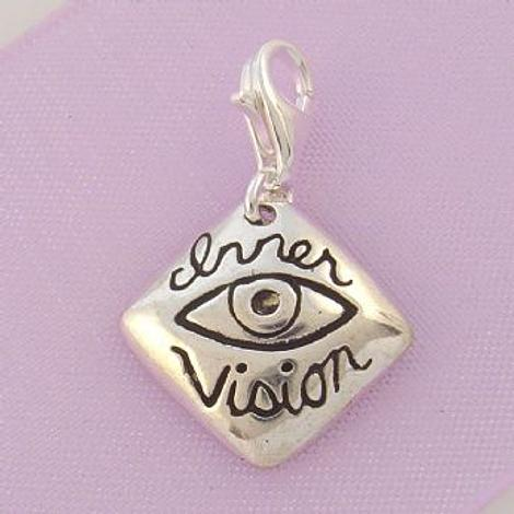 STERLING SILVER 16mmINNER VISION CLIP ON CHARM - TI-01757