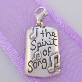 STERLING SILVER THE SPIRIT OF SONG CLIP ON CHARM - TI-01768