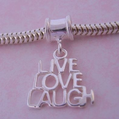 THE JEWEL SHOP LIVE LOVE LAUGH BEAD CHARM CB51-2002