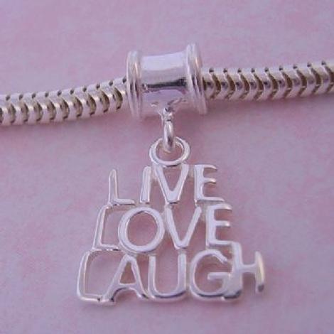 THE JEWEL SHOP LIVE LOVE LAUGH BEAD CHARM CB51-2002