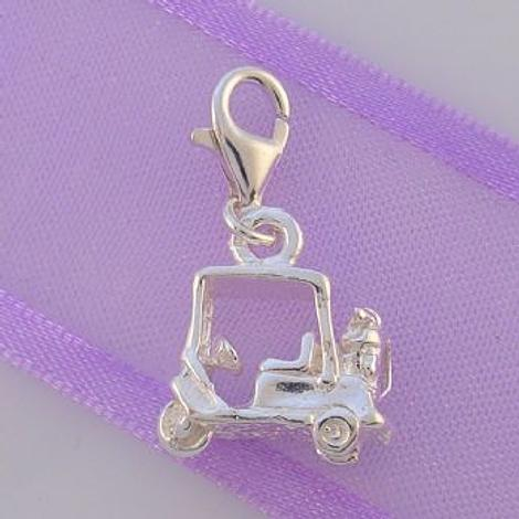 STERLING SILVER GOLF BUGGY CART CLIP ON CHARM - HRKB39