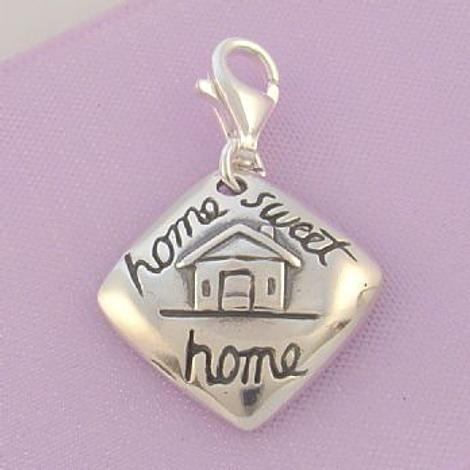 STERLING SILVER 17mm HOME SWEET HOME CLIP ON CHARM - TI-01761