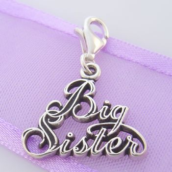 STERLING SILVER 18mm BIG SISTER CLIP ON CHARM - TI-03048