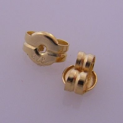 9CT YELLOW GOLD BUTTERFLY CLIPS FOR STUD EARRINGS