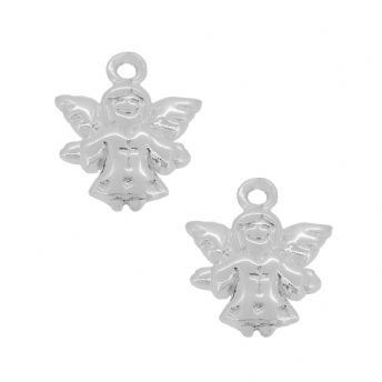 STERLING SILVER TWO GUARDIAN ANGEL CHARMS for SLEEPER EARRINGS