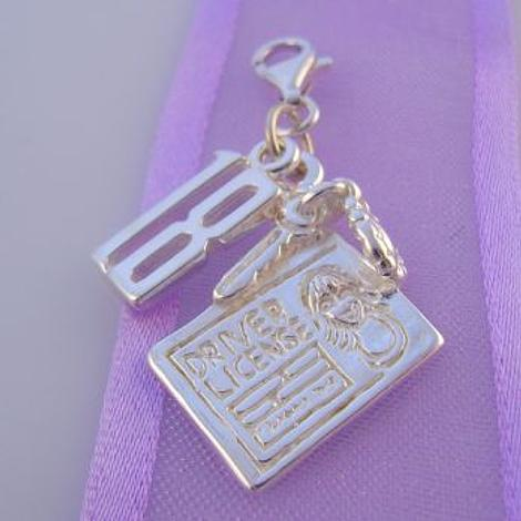 STERLING SILVER 18 18th BIRTHDAY DRIVER LICENCE CLIP ON CHARM -HR1039-KB7