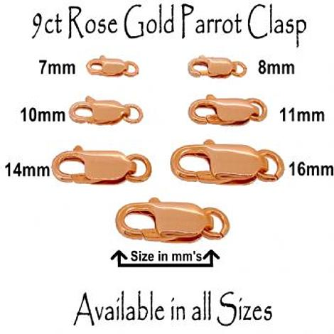 Genuine New 9ct Yellow Gold 10mm x 4mm Parrot Clasp *Free  post in oz