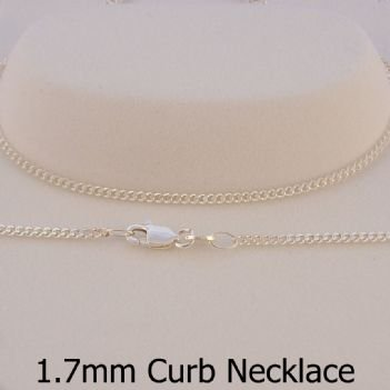 STERLING SILVER 1.4mm CURB CHAIN NECKLACE -N-925-CD50
