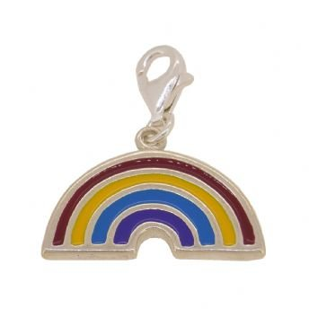 STERLING SILVER 22mm RAINBOW CLIP ON CHARM - TI-09265