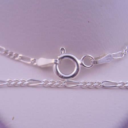 UNISEX 55cm 1.8mm STERLING SILVER FIGARO CURB NECKLACE