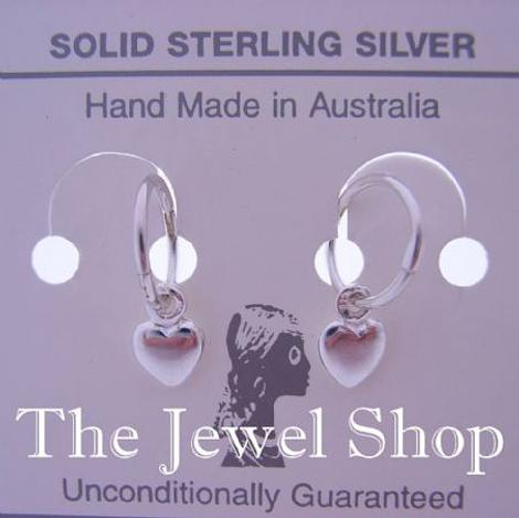 STERLING SILVER 6mm BABY HEART CHARMS 8mm SLEEPER EARRINGS