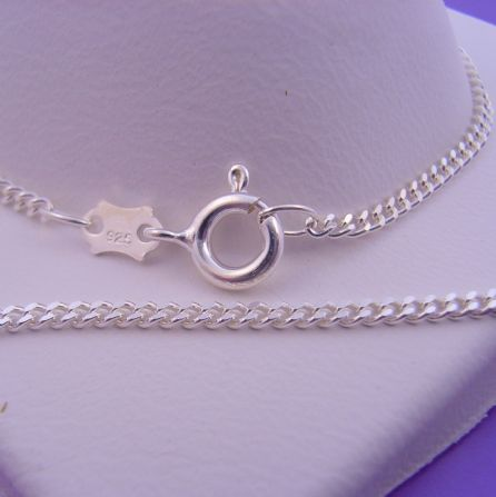STERLING SILVER 50cm CURB DESIGN NECKLACE CHAIN