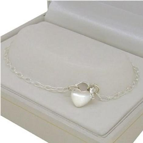STERLING SILVER PADLOCK CHARM 2.3mm CABLE ANKLET