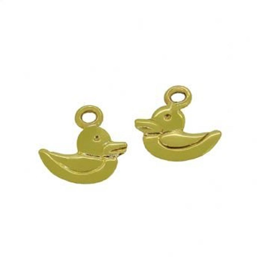 9CT GOLD 7mm BABY DUCK DUCKIE CHARMS for SLEEPER EARRINGS