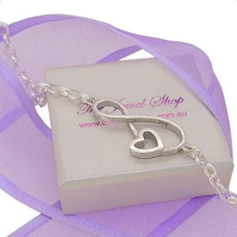 STERLING SILVER INFINITE LOVE INFINITY HEART OVAL BELCHER BRACELET ALL SIZES 12cm - 19cm