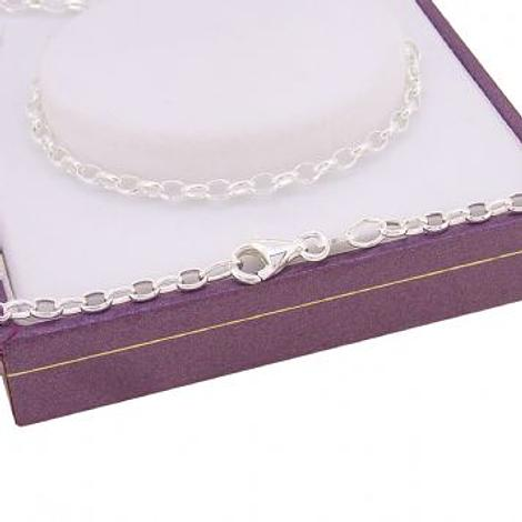 STERLING SILVER 2.4mm OVAL BELCHER CHAIN NECKLACE All Lengths Available