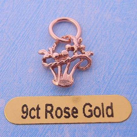 9CT ROSE GOLD BASKET OF FLOWERS CHARM