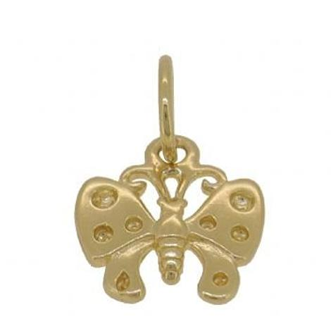 9CT YELLOW GOLD 11mm BUTTERFLY CHARM