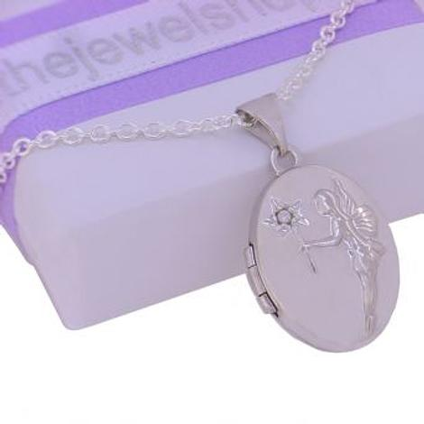 STERLING SILVER 13x16mm TINKERBELL FAIRY WISHES PHOTO LOCKET