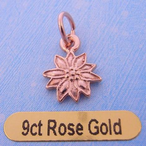 9CT ROSE GOLD DAISY FOWER CHARM