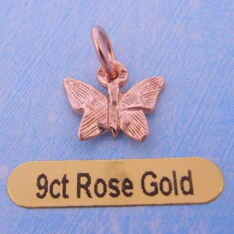 9CT ROSE GOLD SMALL BUTTERFLY CHARM