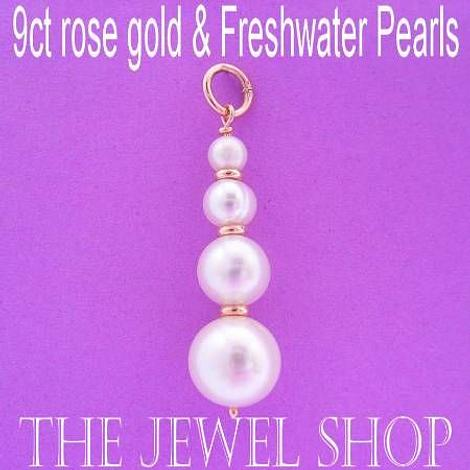 9CT ROSE GOLD NATURAL WHITE FRESHWATER PEARL PENDANT