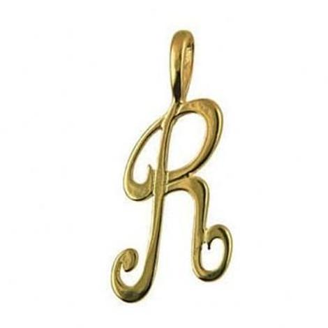 9CT GOLD 24mm ALPHABET INITIAL R PENDANT Available in 9ct Yellow White or Rose Gold