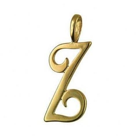 9CT GOLD 24mm ALPHABET INITIAL Z PENDANT Available in 9ct Yellow White or Rose Gold