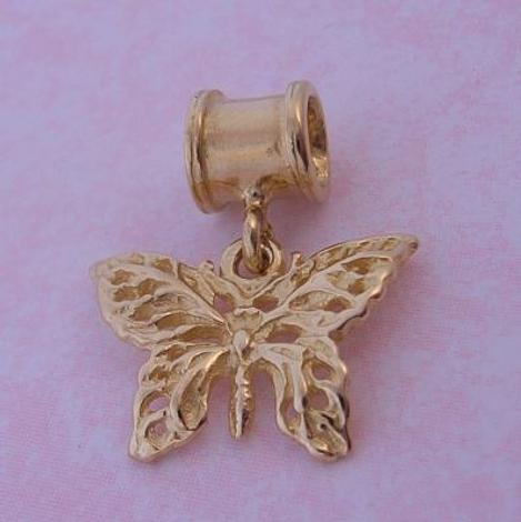 THE JEWEL SHOP 9CT GOLD FILIGREE BUTTERFLY BEAD CHARM CB51-464