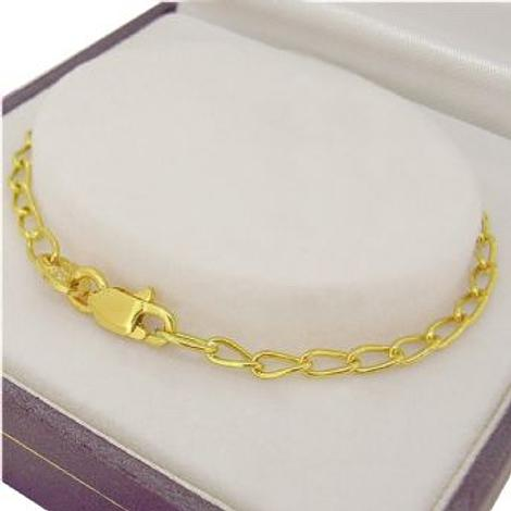 9CT YELLOW GOLD LONG CURB BRACELET Available in all Sizes
