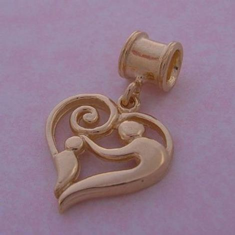 9CT GOLD THE JEWEL SHOP MOTHER BABY CHILD BEAD CHARM