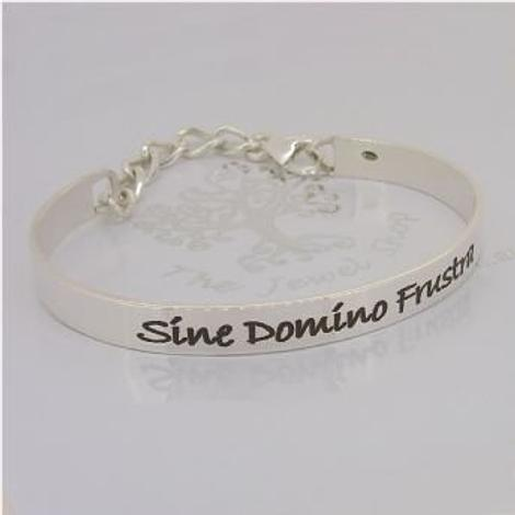 STERLING SILVER UNISEX 6mm PERSONALISED CUFF BANGLE
