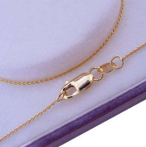 9CT YELLOW GOLD ROPE WHEAT NECKLACE CHAIN 45cm